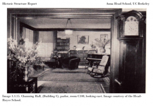 Channing Hall parlor, looking east.