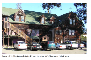 Color photo of the gables (Building B) in 2007.